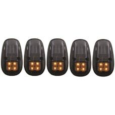 AnzoUSA 861098 LED Cab Roof Light Kit Smoke 5pc