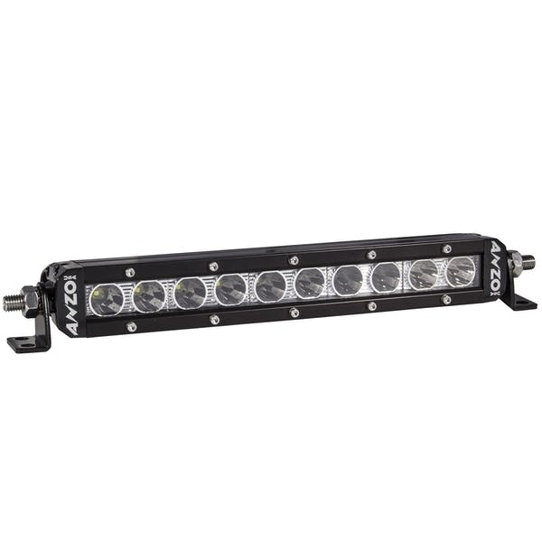 """AnzoUSA 881047 Rugged Off Road Light 10"""" 5W High Intensity LED Single Row (Spot)"""