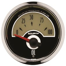 AutoMeter Products 1128 GAUGE; OIL PRESS; 2 1/16in.; 100PSI; ELEC; CRUISER