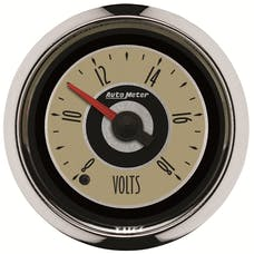 AutoMeter Products 1183 Cruiser Voltmeter Gauge 2 1/16 in. 8 - 18 Volts Full Sweep