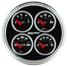 AutoMeter Products 1211 Designer Black II 5in Quad Gauge