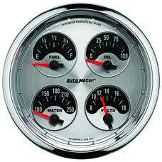 "AutoMeter Products 1225 5"" Quad Gauge, Fuel Level, 0-90, American Muscle"