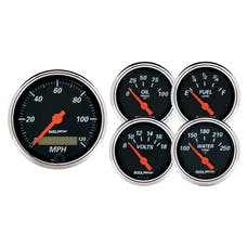 AutoMeter Products 1421 Designer Black 5 piece Kit - Box with Electric Speedo