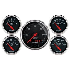 "AutoMeter Products 1450 Designer Black 5 PC Kit 3-3/8"" GPS Speedo"
