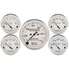 AutoMeter Products 1601 5 Pc Kit Old Tyme White (Mechanical Speedo)