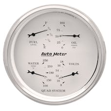AutoMeter Products 1610 Quad Gauge  Old Tyme White