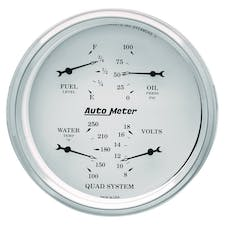 AutoMeter Products 1619 Gauge; Quad; 5in.; 0OE-90OF; Elec; Old Tyme White
