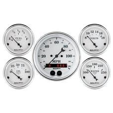 AutoMeter Products 1650 GPS Speedometer Old Tyme White 5 PC Kit