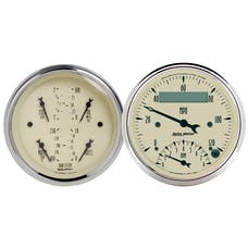 AutoMeter Products 1820 Gauge Kit; 2 pc.; Quad/Tach/Speedo; 3 3/8in.; Antique Beige