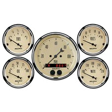 AutoMeter Products 1850 GPS Speedometer Antique Beige 5 PC Kit