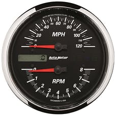 """AutoMeter Products 19466 Tachometer/Speedometer Gauge, Black-Pro Cycle 4 1/2"""", 8K RPM/120 MPH"""