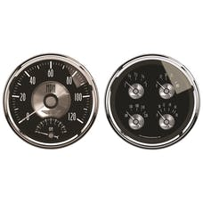 AutoMeter Products 2005 Gauge Kit; 2 pc.; Quad/Tach/Speedo; 5in.; Prestige Blk. Diamond