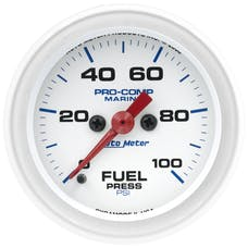 "AutoMeter Products 200850 Fuel Pressure Gauge, Marine White  2 1/16"", 100PSI Digital Stepper Motor"