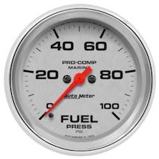 "AutoMeter Products 200851-35 Fuel Pressure Gauge, Marine Chrome 2 5/8"", 100PSI, Digital Stepper Motor"