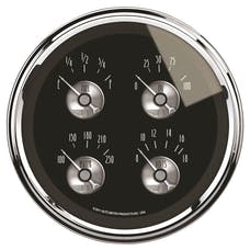 AutoMeter Products 2012 Gauge; Quad; 5in.; 0OE to 90OF; Elec; Prestige Blk. Diamond