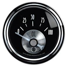 AutoMeter Products 2028 Gauge; Oil Press; 2 1/16in.; 100psi; Elec; Prestige Blk. Diamond
