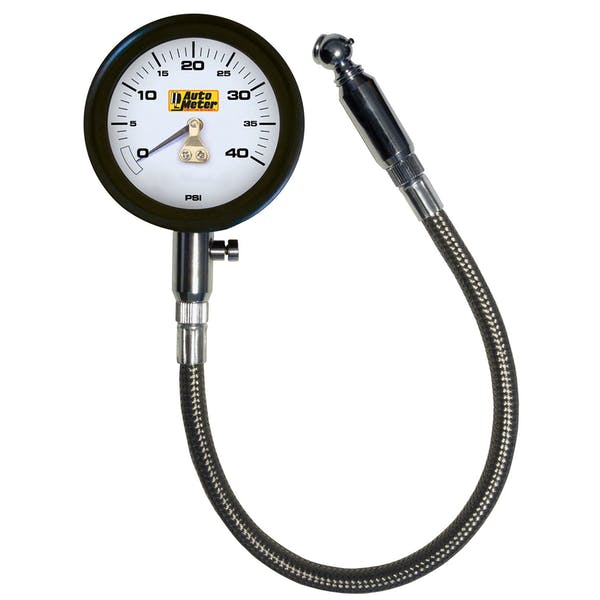 AutoMeter Products 2162 Professional-Grade Tire Pressure Gauge (0-40 PSI)