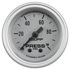 """AutoMeter Products 2334 2-1/16"""" Pressure 0-100, AGS, w/Panel"""