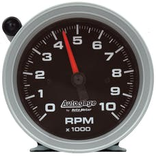 "AutoMeter Products 233908 Gauge Tachometer 3 3/4"", 10K RPM, Pedestal with Ext Shift Light, Blk Dial & Case"
