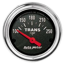 AutoMeter Products 2552 GAUGE; TRANS TEMP; 2 1/16in.; 100-250deg.F; ELECTRIC; TRADITIONAL CHROME