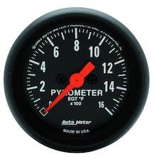 AutoMeter Products 2654 Gauge; Pyrometer (EGT); 2 1/16in.; 1600deg.F; Digital Stepper Motor; Z-Series