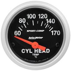 """AutoMeter Products 3336-M Gauge, Cylinder Head Temp, 2 1/16"""", 60-170Γö¼Γòæc, Electric, Sport-Comp"""
