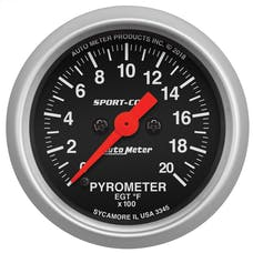 AutoMeter Products 3345 Pyrometer (EGT) Gauge, Sport Comp