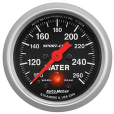 """AutoMeter Products 3354 Water Temperature Gauge 2 1/16"""" Sport Comp"""