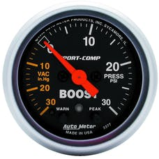 AutoMeter Products 3377 Boost/Vac  30 In. Hg/30 PSI