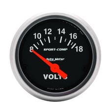 AutoMeter Products 3391 Voltmeter  8-18 Volts
