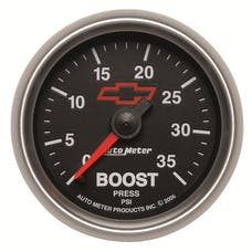 """AutoMeter Products 3604-00406 2-1/16"""" Boost 0-35 PSI Mech, GM Red Bowtie"""
