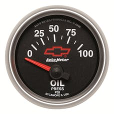 AutoMeter Products 3627-00406 GM Series Electric Oil Pressure Gauge 2 1/16in. 0-100 psi Short Sweep, GM Red