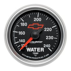 """AutoMeter Products 3632-00406 2-1/16"""" Water Temp 120 240 F Mech, GM Red Bowtie"""