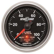 AutoMeter Products 3671 Gauge; Fuel Press; 2 1/16in.; 100psi; Digital Stepper Motor w/Peak/Warn; Sport-C