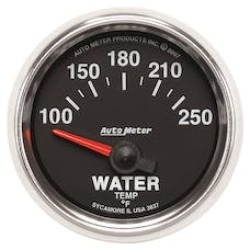 AutoMeter Products 3837 Gauge; Water Temp; 2 1/16in.; 100-250deg.F; Electric; GS