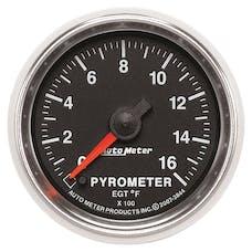 AutoMeter Products 3844 Gauge; Pyrometer (EGT); 2 1/16in.; 1600deg.F; Digital Stepper Motor; GS