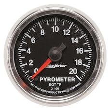 AutoMeter Products 3845 Gauge; Pyrometer (EGT); 2 1/16in.; 2000deg.F; Digital Stepper Motor; GS