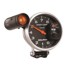 AutoMeter Products 3905 Gauge; Tachometer; 5in.; 8k RPM; Pedestal w/ext. Shift-Lite; Sport-Comp