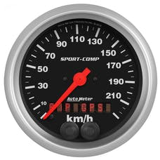 "AutoMeter Products 3982-M Speedometer Gauge, 3 3/8"", 225KM/H, GPS Sport Comp"