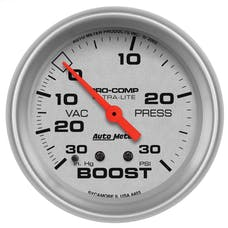 AutoMeter Products 4403 Gauge; Vac/Boost; 2 5/8in.; 30inHg-30psi; Mechanical; Ultra-Lite