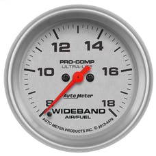 "AutoMeter Products 4479 2-5/8"" Analog Wideband Air/Fuel Ratio Gauge, FSE, Ultra-Nite"