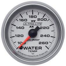 AutoMeter Products 4955 GAUGE; WATER TEMP; 2 1/16in.; 100-260deg.F; DIGITAL STEPPER MOTOR; ULTRA-LITE II