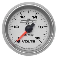 AutoMeter Products 4991 GAUGE; VOLTMETER; 2 1/16in.; 18V; DIGITAL STEPPER MOTOR; ULTRA-LITE II