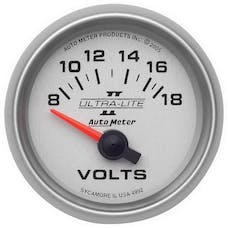 AutoMeter Products 4992 Gauge; Voltmeter; 2 1/16in.; 18V; Electric; Ultra-Lite II