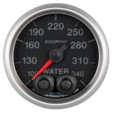 AutoMeter Products 5655 Gauge; Water Temp; 2 1/16in.; 340deg.F; Stepper Motor w/Peak/Warn; Elite