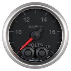 AutoMeter Products 5683 Gauge; Voltmeter; 2 1/16in.; 18V; Digital Stepper Motor w/Peak/Warn; Elite