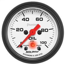 """AutoMeter Products 5752 Oil Pressure Gauge 2-1/16"""" 0-100psi"""