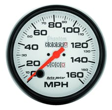 AutoMeter Products 5895 Gauge; Speedometer; 5in.; 160mph; Mechanical; Phantom