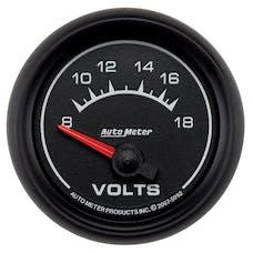 AutoMeter Products 5992 Gauge; Voltmeter; 2 1/16in.; 18V; Electric; ES