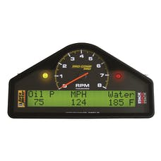 AutoMeter Products 6002 Street Dash Display; 8k RPM/MPH/OILP/OILT/WTMP/VOLT; Pro-Comp